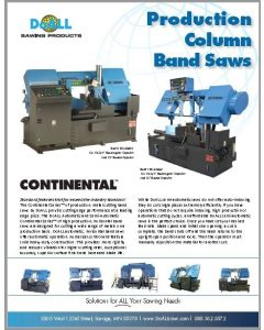 DoALL Continental Series of Production Column saw brochure clip