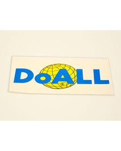"""DoALL part W10009 - 10-1/2 x 5"""" Decal with DoALL Logo"""