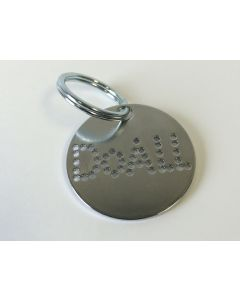 DoALL part IE1336 - DoALL Punched Key Chain | Silver punched key chain ring