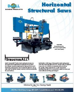 DoALL Horizontal StructurALL band saw brochure clip