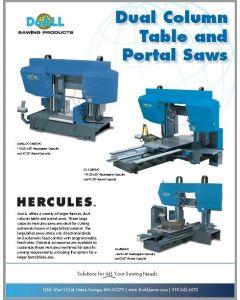 DoALL Hercules Dual Column Table and Portal saw brochure clip