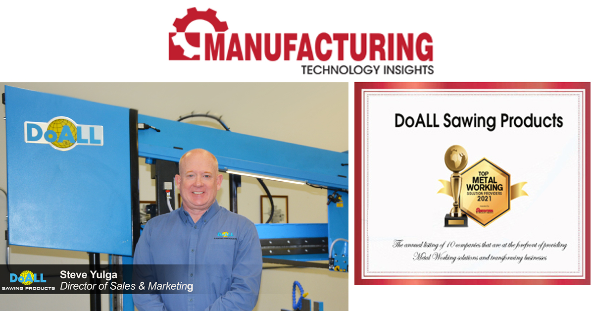 DoALL Voted Top Metal Solutions Provider in 2021