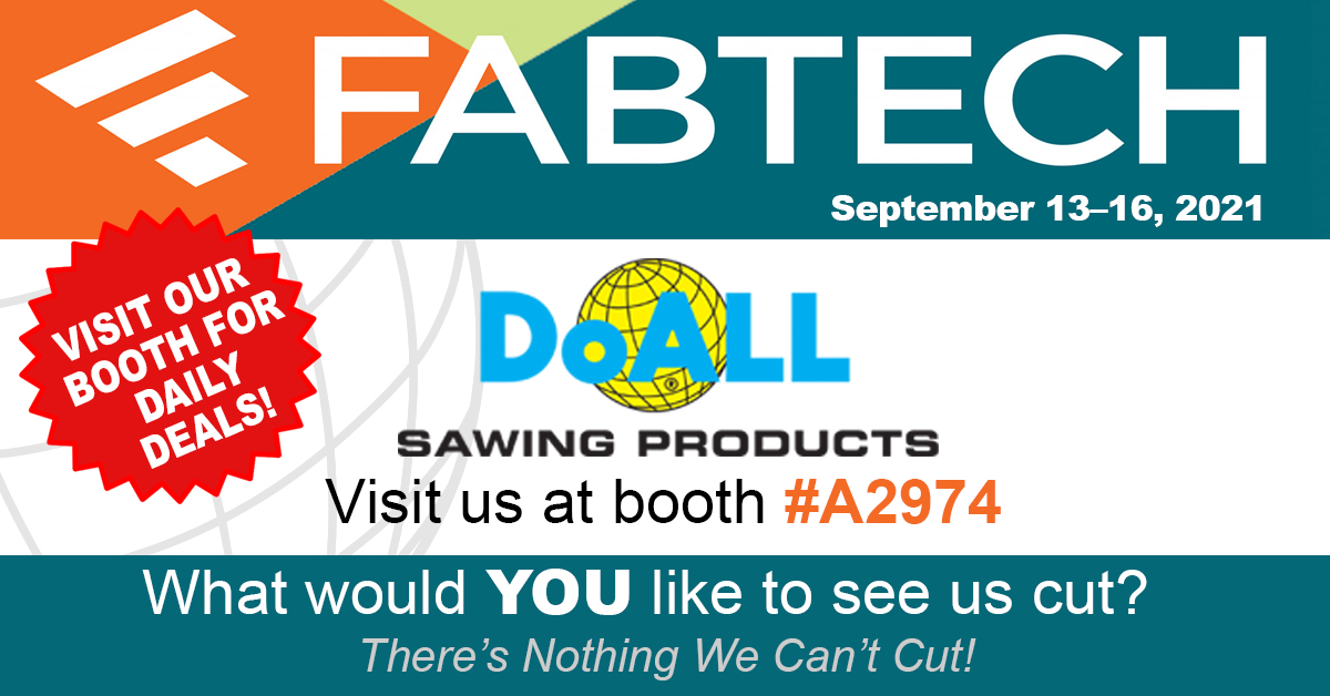 CHECK OUT DOALL AT FABTECH 2021