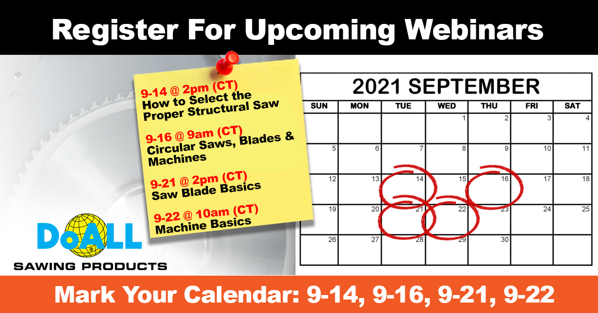 Don't Miss Out! Upcoming Webinars this September 2021